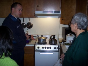 Fire safety visit in Amherst, MA