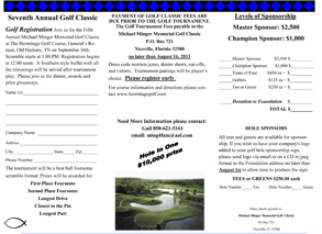 Register for the Golf Classic